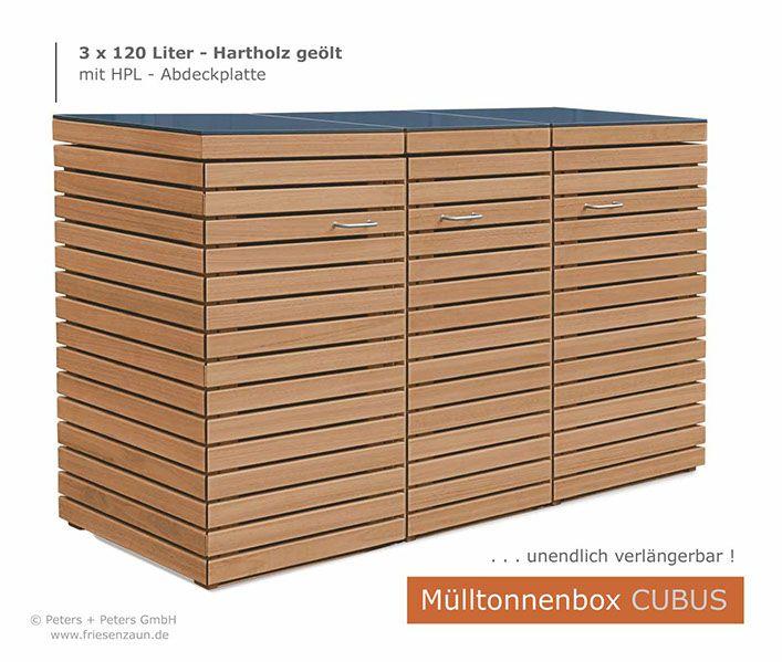 2er m lltonnenbox f r 120 liter abfalltonnen garten. Black Bedroom Furniture Sets. Home Design Ideas
