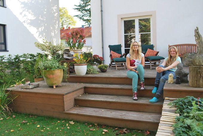 Holzterasse Garten, Holz Im
