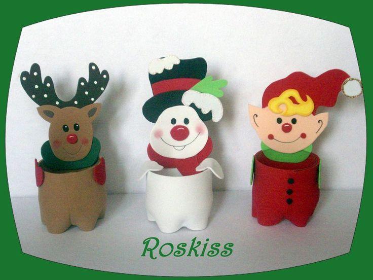 Dulceros de navidad con botellas de refresco buscar con - Buscar manualidades de navidad ...