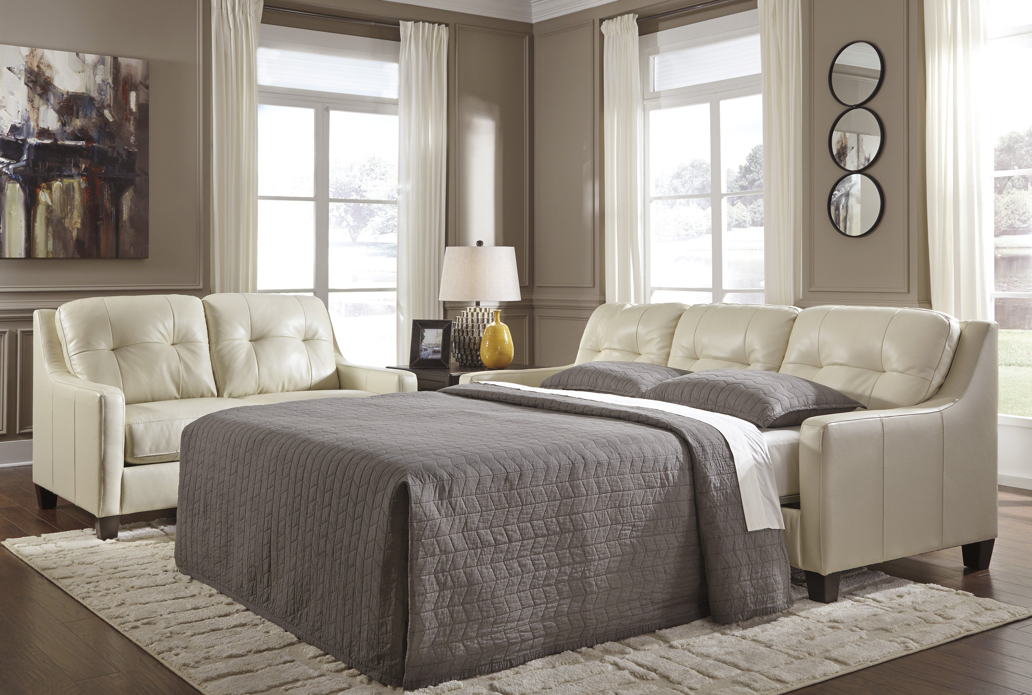 O'Kean Queen Sofa Sleeper Furniture, Leather sofa bed
