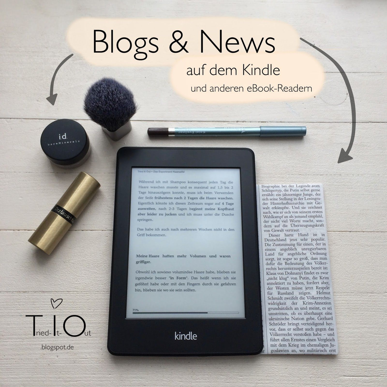 Blogs & News auf dem Kindle und anderen eBook-Readern!  How to receive daily news and blogs on e-readers like the kindle paperwhite! :)