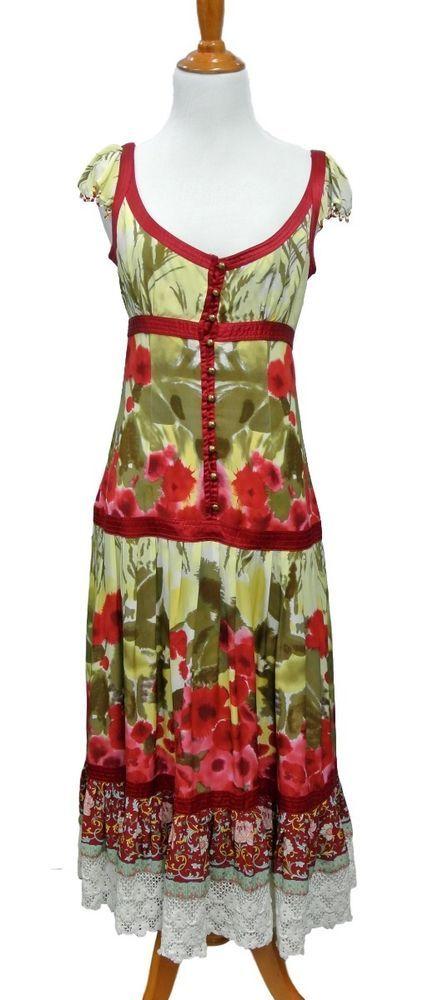 4ec3c01fe Plenty Tracy Reese Silk Beaded Watercolor Floral Dress Size 6  #PlentyTracyReese #TeaDress #Casual