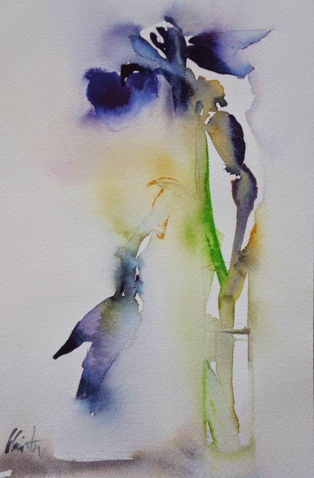 Atelier De La Petite Mer Iris A Tige Cassee Broken Iris Stem