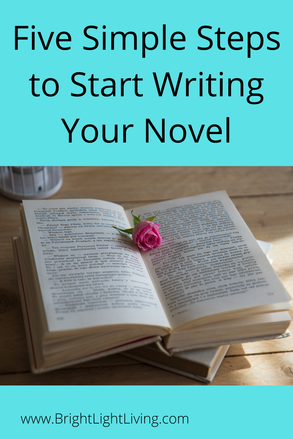 Five Simple Steps to Start Writing Your Novel - Bright Light