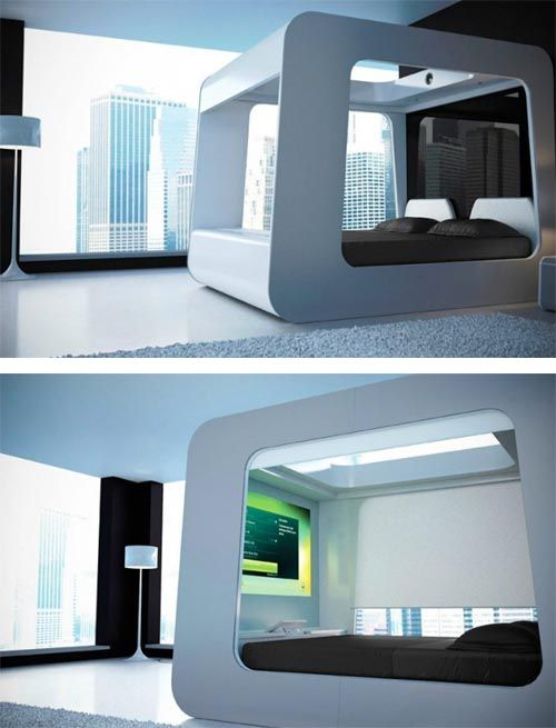 Tech Bed With Built In Tv Heaven Best Home Automation