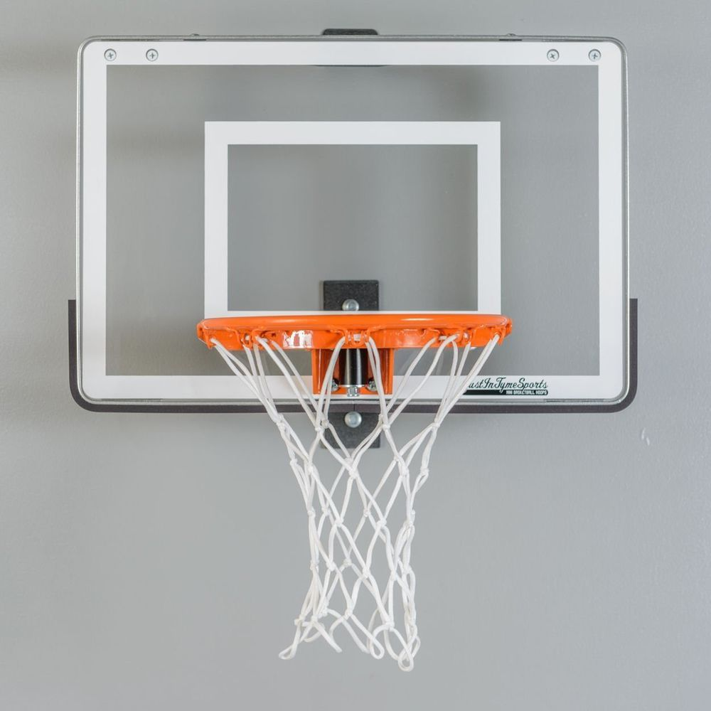 Wall mounted mini basketball hoop mini pro 1 0 steel frame for Basketball hoop inside garage