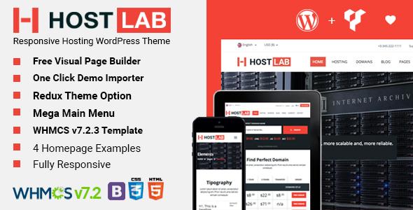 HostLab - Responsive Hosting Service With WHMCS #WordPress Theme ...