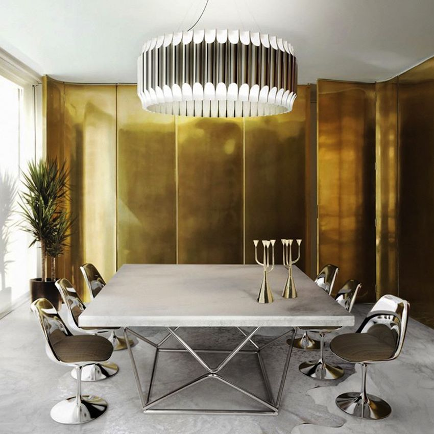 10 Luxury Furniture Brands You Should Follow On Instagram Modern Dining Tables Luxury Dining Room Modern Ceiling Lamps Interior