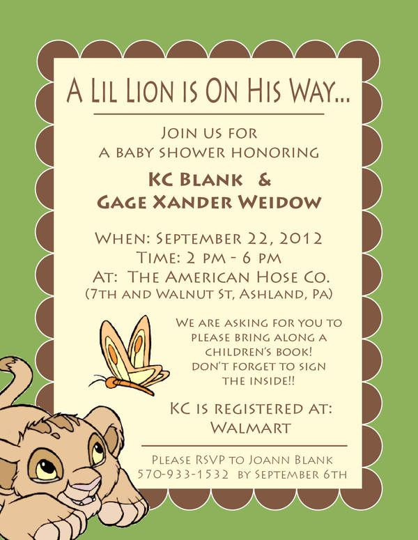 i'm dreaming of a lion kingthemed baby shower for the little one, invitation samples