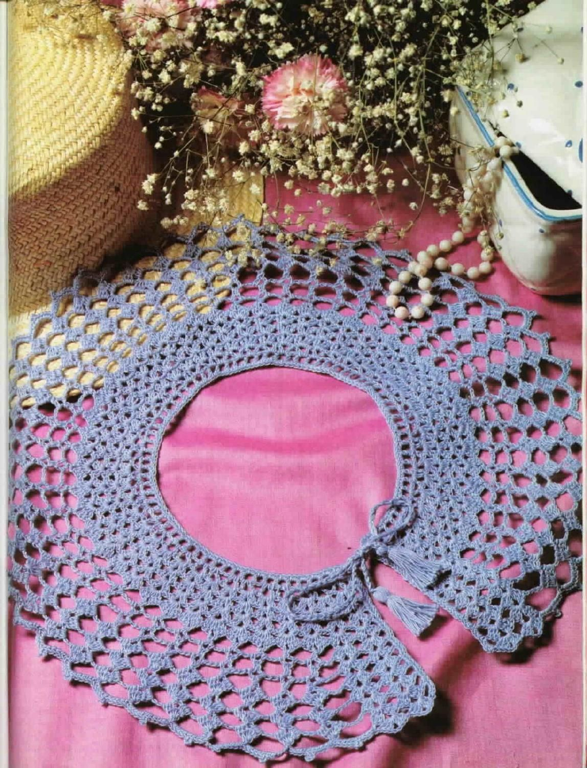 Crochet Collar-2 | Crochet collar, Diagram and Free pattern