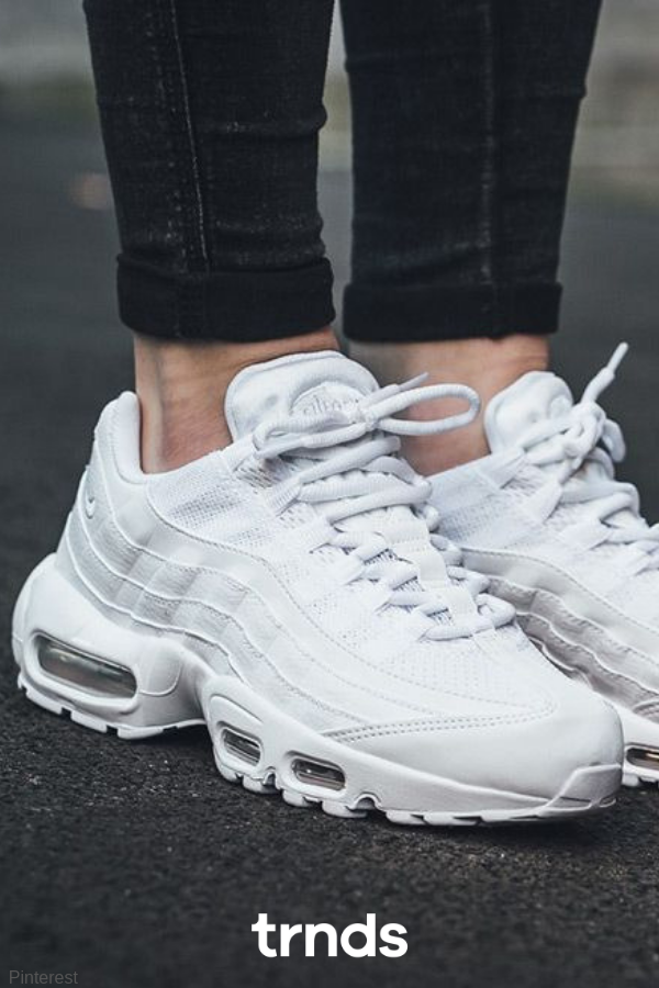 f272110fba Nike Air Max 95 Triple White for women. Take a look at these white chunky
