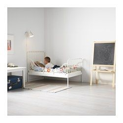 Ext Bed Frame With Slatted Bed Base White 38 1 4x74 3 4