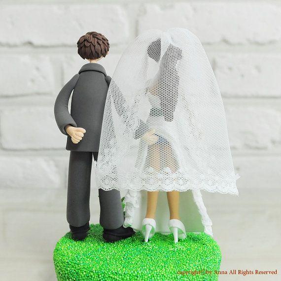 Sensual Funny theme custom wedding cake topper gift keepsake on Etsy, $190.00