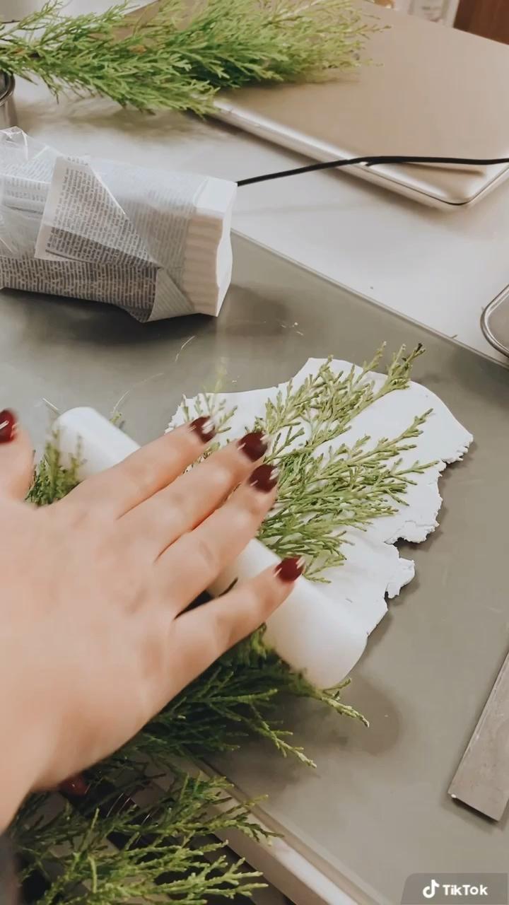 Handmade botanical coasters in making