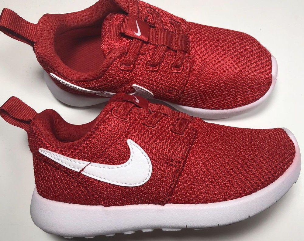 e2df8ea3d43 Nike Roshe One TDV 749430 005 Toddler Size 6c University Red White NWT  53
