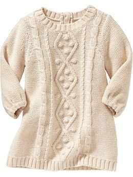50ace6216 Cable-Knit Sweater Dresses for Baby