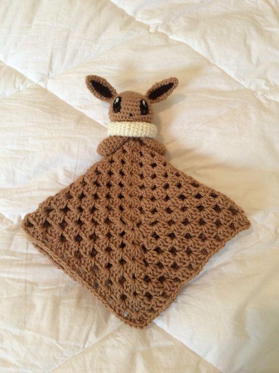 Crochet Pokemon Inspired Eevee Baby Lovey Blanket by ...