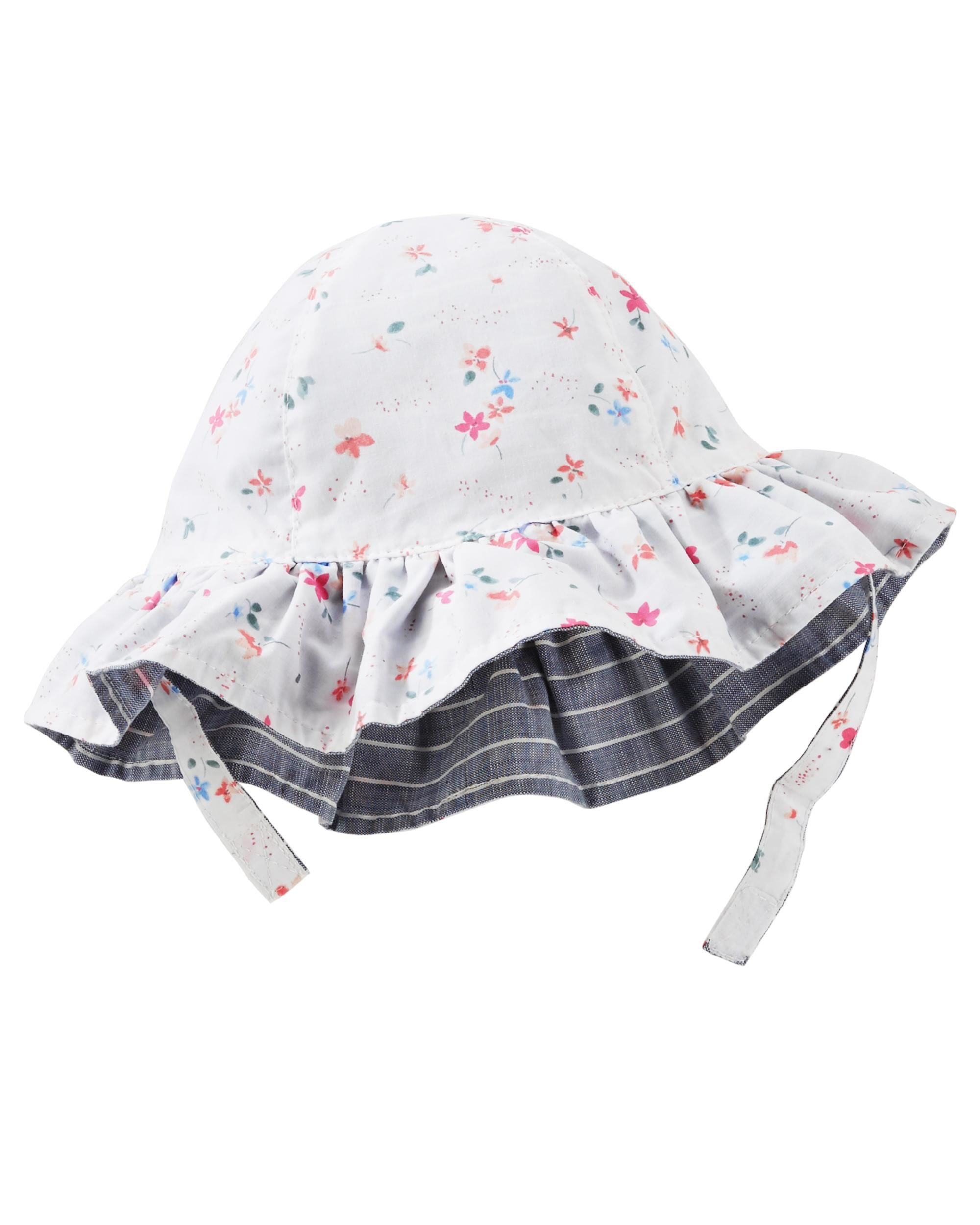 3e6e9fa34fe34 Baby Girl Reversible Floral Bucket Hat