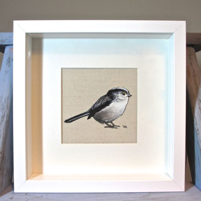 Long-tailed tit Painting - Framed and Mounted £45.00 | Xmas ideas ...