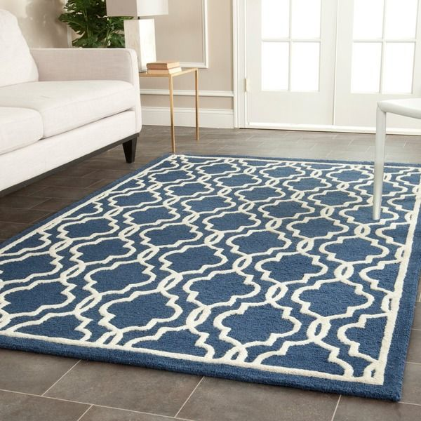 Safavieh Handmade Moroccan Cambridge Navy Wool Area Rug 6 X 9