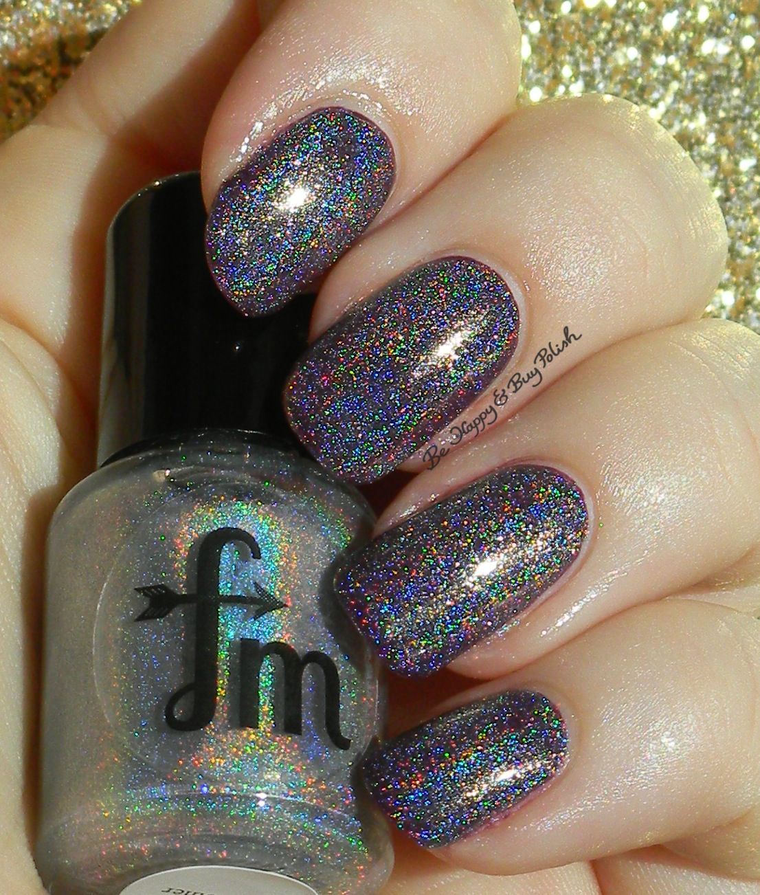 Fair Maiden Polish Fairy Godmother over OPI Skating on Thin Ice-land | Be Happy And Buy Polish http://behappyandbuypolish.com/2014/11/07/fair-maiden-polish-swatches-review/
