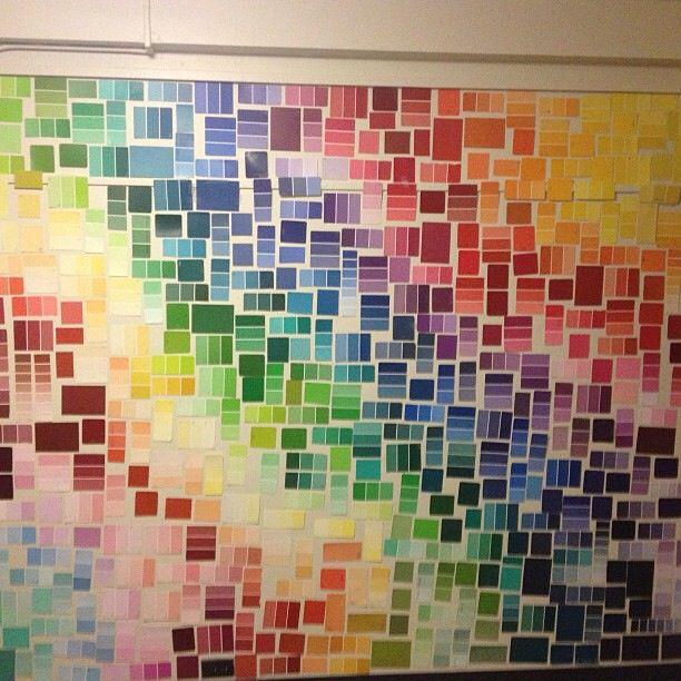 Paint sample wall