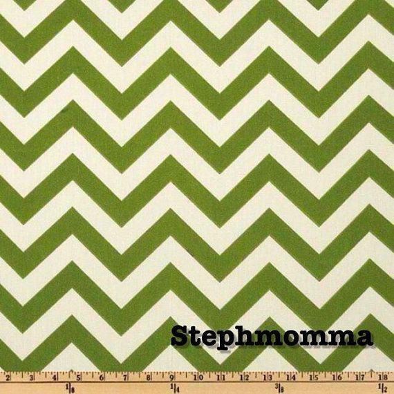 Green chevron fabric! LOVE IT! | Decorate | Pinterest | Chevron ...