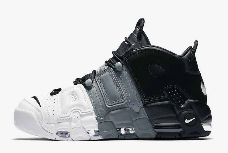 2017 2018 Daily Nike Air More Uptempo Tri-Color Black Cool-Grey-White  Basketball Shoe For Sale e66c29585