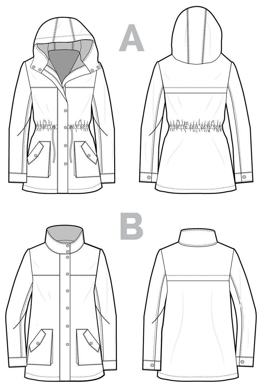 Kelly anorak jacket pattern | Schnittmuster und Inspiration