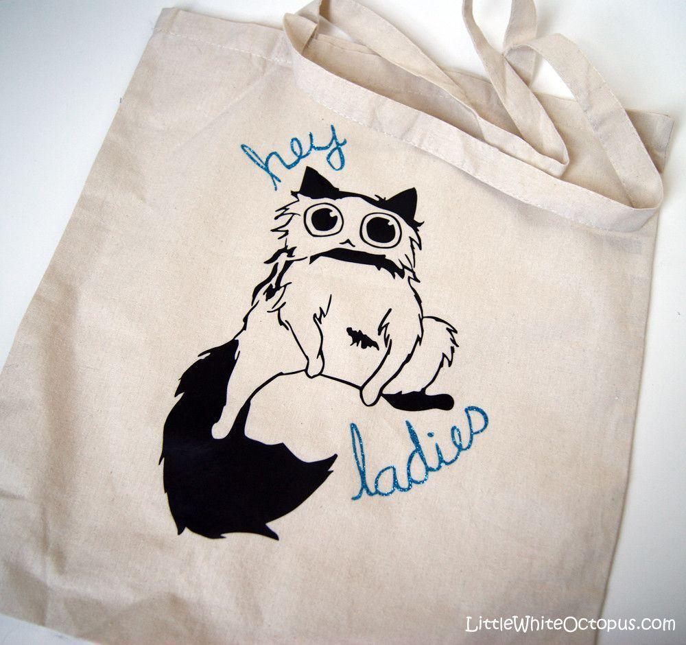'Hey Ladies' Hamlet the Cat Tote Bag