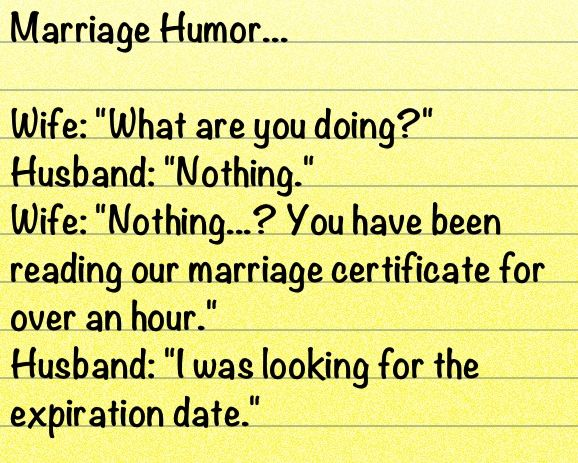 Funny Jokes Of Married Life: Marriage Humor... Joke...