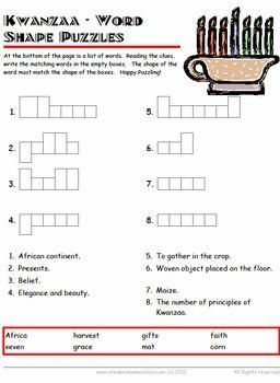 50 Kwanzaa Worksheets Grades 1- 4 | Kwanzaa Worksheets and ...