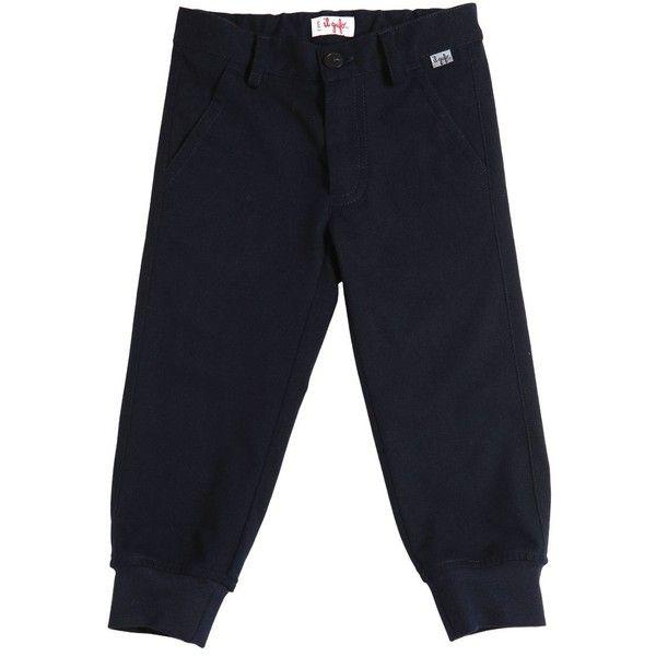 Il Gufo Kids-boys Felt Pants (385 BRL) ❤ liked on Polyvore featuring navy