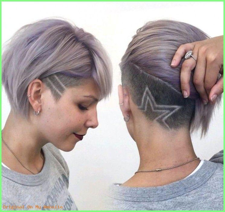 Frauen Frisuren Lange Haare Sidecut Frau Stern Muster Hair