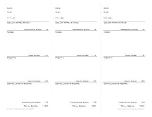 Downloadable and Printable Wine Tasting Notes Template | Wine ...