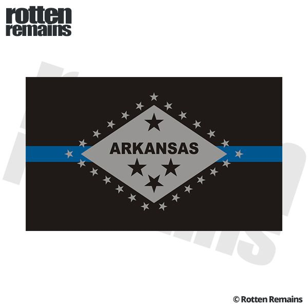 Arkansas state flag thin blue line ar police officer sheriff sticker decal