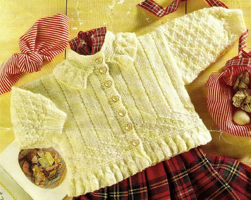 PDF Digital Download Vintage Knitting Pattern Baby Childs Cable ...
