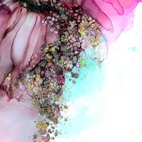Alcohol Ink Painting #alcoholinkcrafts