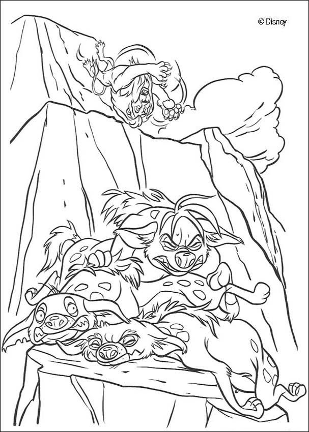 Discover this coloring page of The king Lion Movies Color Scar