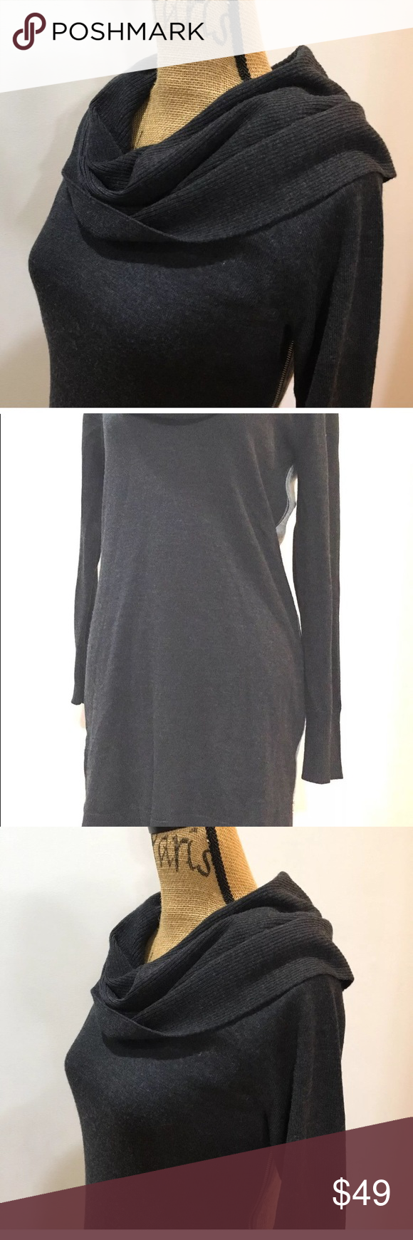 42557f1740b Cynthia Rowley Merino Wool Sweater Dress Tunic Sm. NWOT Cynthia Rowley 100%  Extrafine Merino