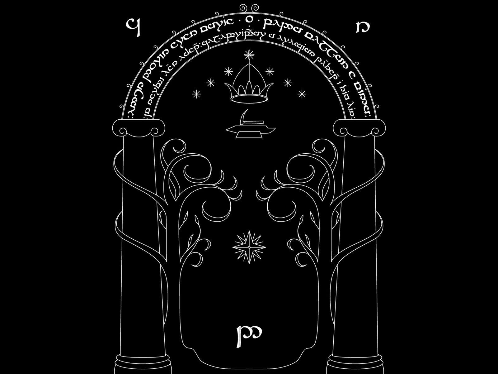 Tolkien Wallpaper Speak Friend By Mcnealydeviantartcom On
