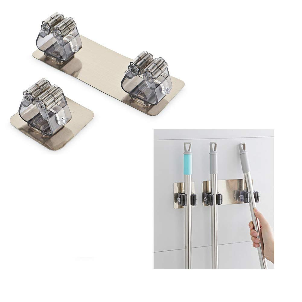 Wall Mount Bathroom Storage Organizer Mop Hanger 2 PCS Merssyria Broom Mop Holder