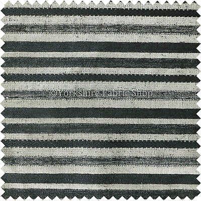 New Modern Black Gold Striped Pattern Chenille Upholstery Fabric ZZ160616 70
