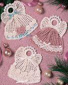 Buttoned Angels Thread Crochet Pattern ePattern