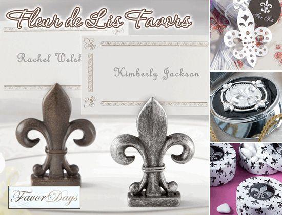 Fleur de Lis Card Place Holder | Renaissance Wedding | Pinterest ...