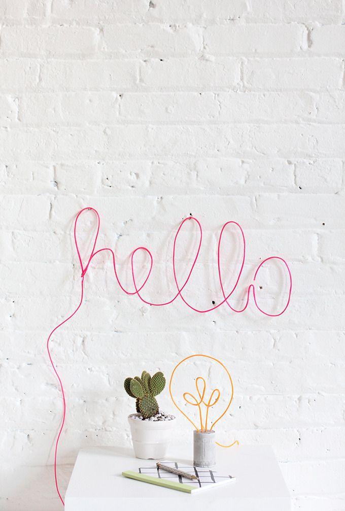 Love this neon sign inspired DIY project. Who knew it would be so easy to make?