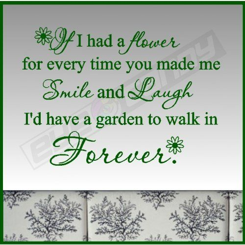 If I Had A Flower For.Love Wall Quotes Sayings Lettering Words Decals