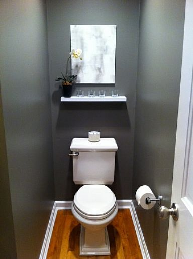 Modern Half Bathroom Ideas modern minimalist half bath decorating ideas with small shelves in