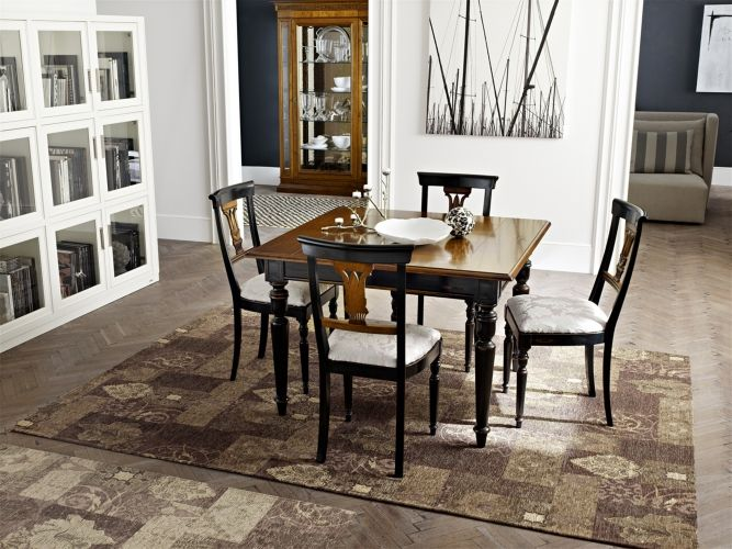 Cartesio I Lauri Classic Collections Le Fablier Square Extendable Table Measures In Cm Lxdxh 115 200x115x80 Mobili Idee Per Decorare La Casa Tavoli