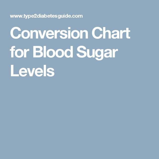 Conversion Chart For Blood Sugar Levels Articles Pinterest